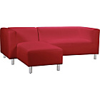 more details on Jasper Leather and Leather Effect Left Hand Corner Sofa-Red.
