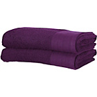 more details on ColourMatch Pair of Extra Large Bath Towels - Purple Fizz.