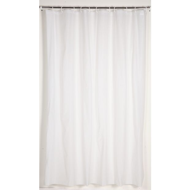 Buy simple value shower curtain white at for Bathroom accessories argos