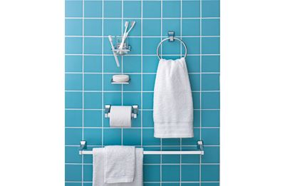 Buy mahogany towel rails and rings at your for Bathroom accessories argos