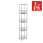 more details on HOME Wire 4 Tier Storage Unit - Chrome.