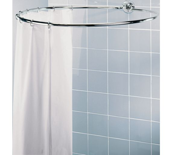 buy home chrome circular shower rail at your. Black Bedroom Furniture Sets. Home Design Ideas
