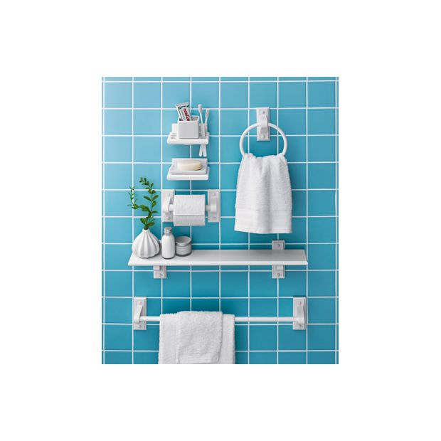 Buy home wooden 6 piece bathroom accessory set white at for Bathroom accessories argos