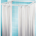 more details on HOME Shower Frame and Curtain Set - White.