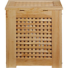 more details on HOME Wooden Laundry Bin - Natural.