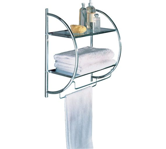 buy collection shelf and towel rail chrome at. Black Bedroom Furniture Sets. Home Design Ideas
