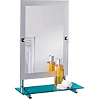 more details on Collection Frosted Edge Rectangular Mirror with Glass Shelf.