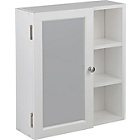 more details on HOME Single Mirror Bathroom Cabinet with Shelves - White.
