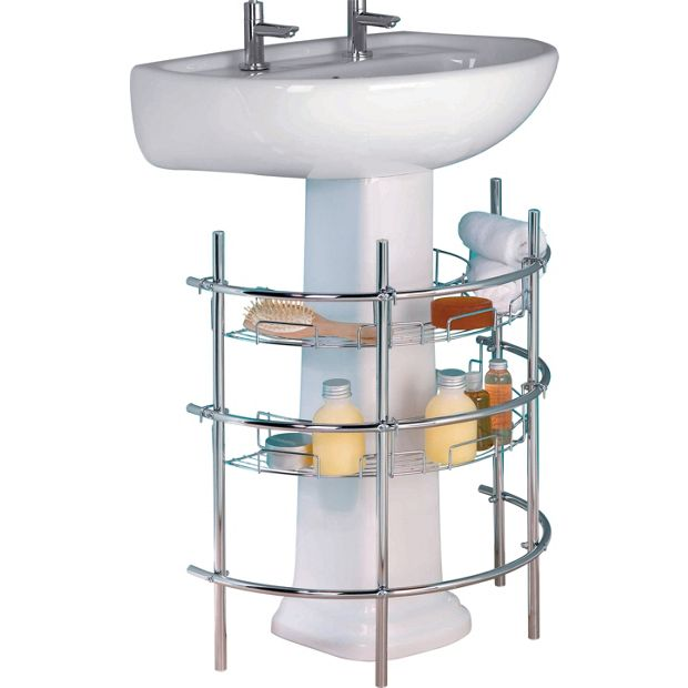 Buy Home Under Sink Storage Unit Chrome At Your Online Shop For Bathroom Shelves