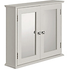more details on Double Door Mirrored Bathroom Cabinet - White.