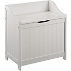 more details on Monks Bench Style Laundry Basket - White.