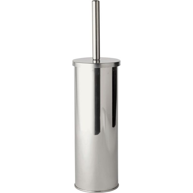 Buy home stainless steel toilet brush holder at for Bathroom accessories argos