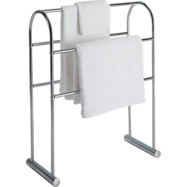 Buy home traditional curved towel rail chrome at argos for Bathroom accessories argos