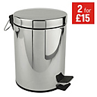 more details on Simple Value Stainless Steel 5 Litre Pedal Bin.