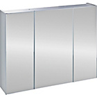 more details on triple mirrored bathroom cabinet white