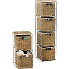 more details on 2 Piece Check Weave Seagrass Storage Set - Natural.