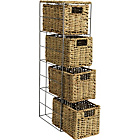 more details on Living Slimline 4 Drawer Seagrass Storage Tower - Natural.