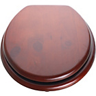 more details on HOME Wood Effect Toilet Seat - Mahogany.