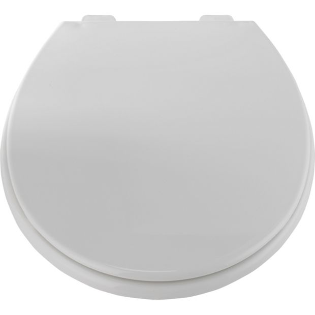 buy home anti bac slow close toilet seat white at argos. Black Bedroom Furniture Sets. Home Design Ideas