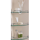 more details on Glass Corner Shelves - Pack of 3.