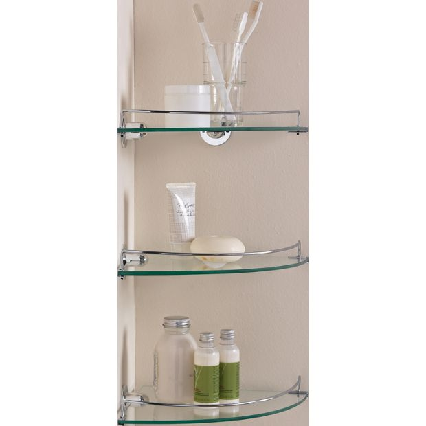 Bathroom Accessories Argos : Buy home glass corner shelves pack of at argos