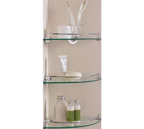 Buy Home Glass Corner Shelves Pack Of 3 At Your Online Shop For Bathroom Shelves