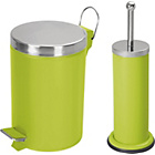 more details on ColourMatch Bathroom Bin and Toilet Brush Set - Apple Green.