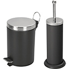 more details on ColourMatch Bathroom Bin and Toilet Brush Set - Jet Black.