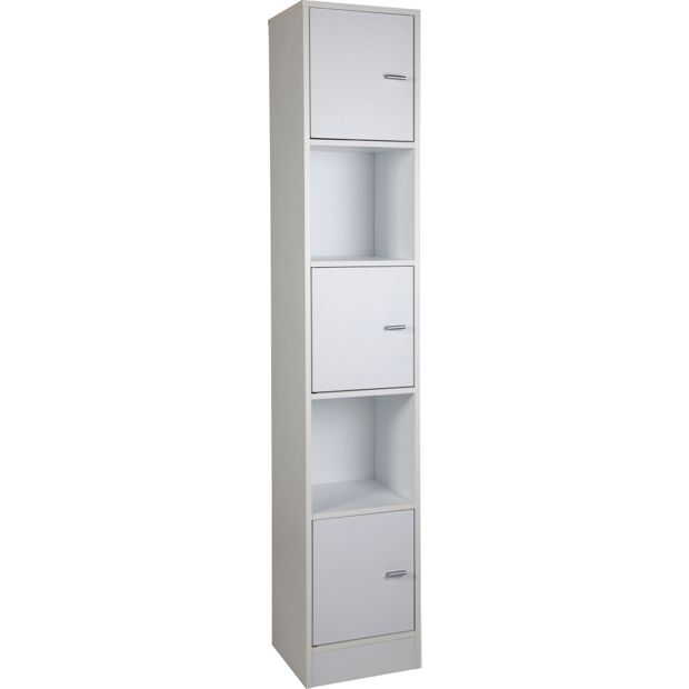 Buy HOME Tall Bathroom Storage Unit - White at Argos.co.uk ...