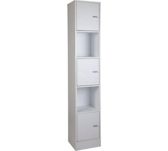Buy wow home tall bathroom storage unit white at argos for Bedroom units argos