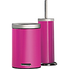 more details on ColourMatch Bathroom Bin & Toilet Brush Set - Funky Fuchsia.