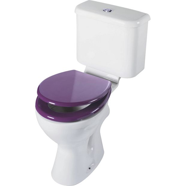 Buy colourmatch toilet seat purple fizz at your online shop for toilet seats - Purple bathroom accessories uk ...