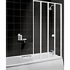 more details on Fully Framed White 4 Fold Shower Screen.