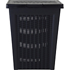 more details on Keter Rattan Effect Laundry Bin - Charcoal.