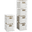 more details on 2 Piece White Storage Tower.