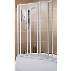 more details on 7 Fold Framed Shower Screen - White.
