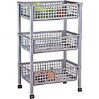 more details on Argos Value Range 3 Tier Vegetable Trolley - Silver Effect.