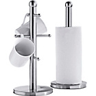 more details on HOME Satin Stainless Steel Mug Tree-Kitchen Towel Holder Set