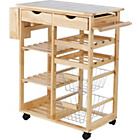 more details on Living Tile Top Kitchen Storage Trolley - Pine.