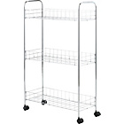 more details on 3 Tier Slim Kitchen Trolley - Chrome.