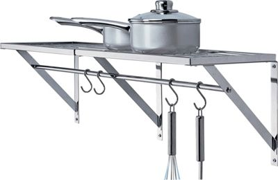 Hanging Kitchen Shelf: Buy HOME Chrome Wall Shelf With Hanging Bars At Argos.co