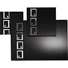 more details on 10 Piece Black Oblong Glass Placemat Set.