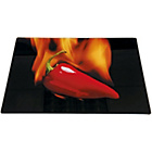 more details on Living Hot Chilli Glass Worktop Saver Chopping Board.
