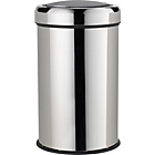 more details on HOME 50 Litre Touch Top Kitchen Bin - Silver.