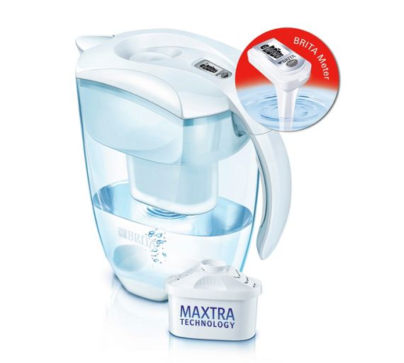 buy brita elemaris meter xl water filter jug white at. Black Bedroom Furniture Sets. Home Design Ideas