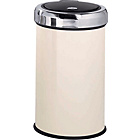 more details on Stainless Steel 50 Litre Touch Top Kitchen Bin - Cream.