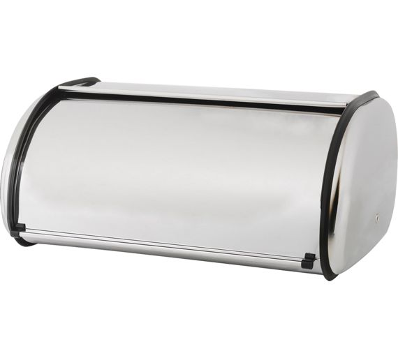 buy simple value stainless steel bread bin at. Black Bedroom Furniture Sets. Home Design Ideas
