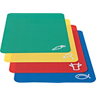 more details on Flexible Colour Plastic Chopping Mats - Pack of 4.