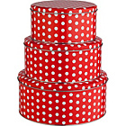 more details on Living Set of 3 Polka Dot Cake Tins.