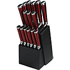 more details on Premier 15 Piece Translucent Knife Set - Red.